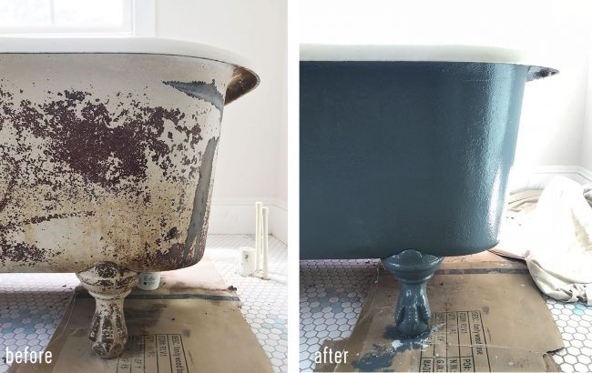 How To Refinish A Nasty, Old Clawfoot Tub