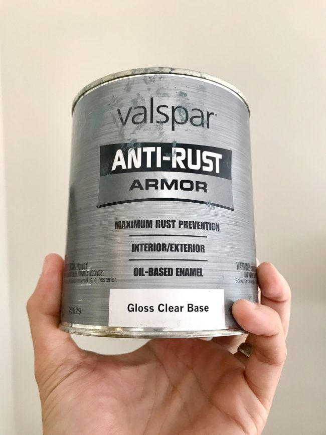 Refinish Clawfoot Tub Valspar Anti-Rust Armor Paint