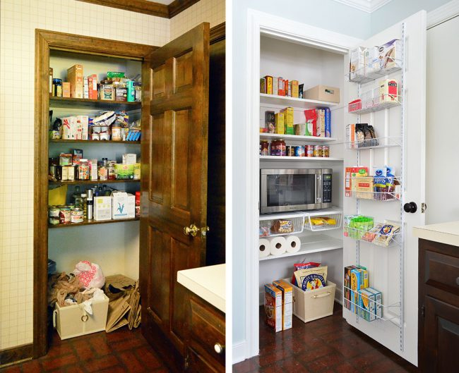 Closet Pantry Makeover With Paint New Shelving Door Organization