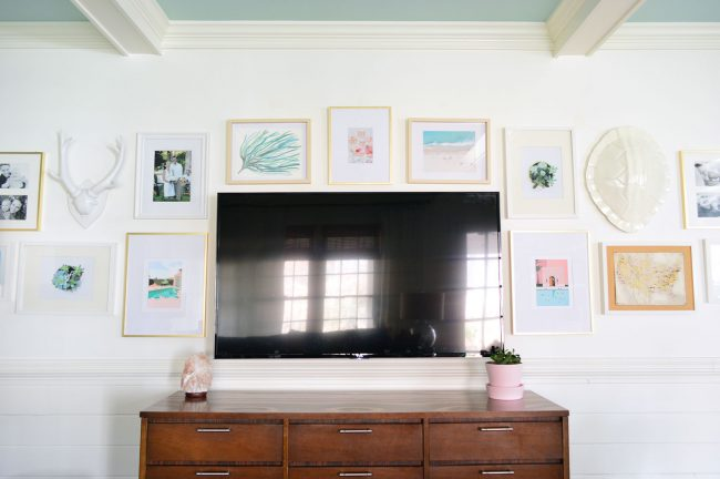 How To Make A Gallery Wall Around A TV | Young House Love