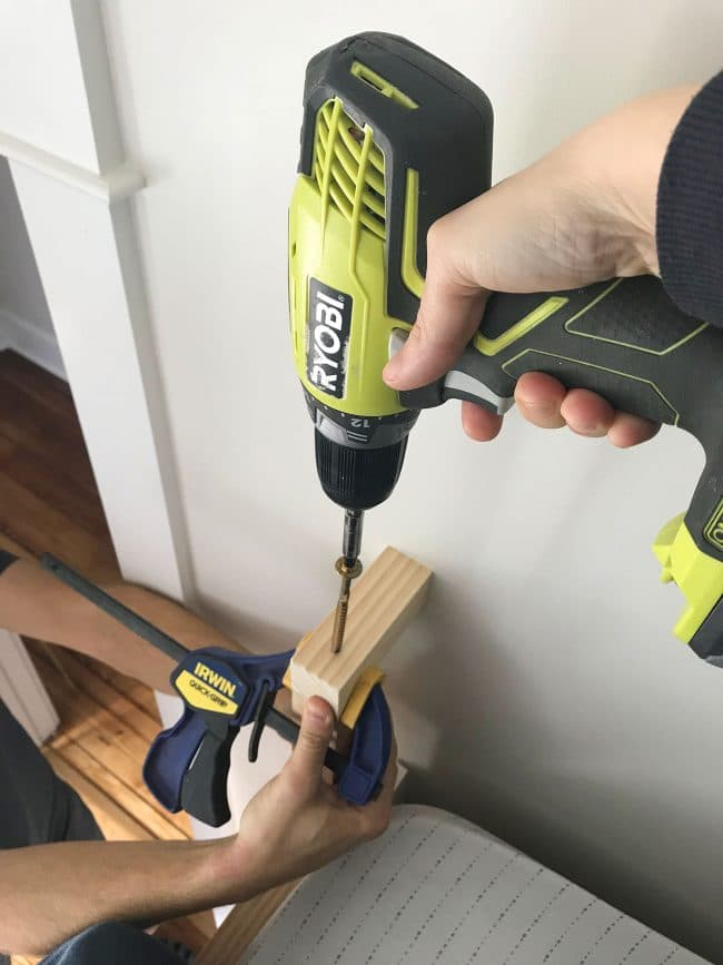 ryobi drill attaching railings using RSS screws