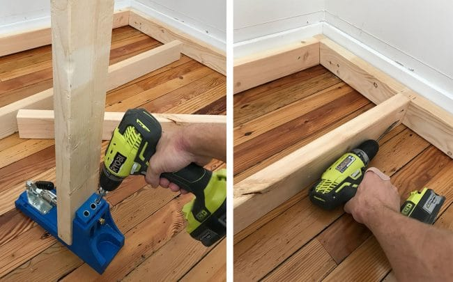 drilling pocket holes using kreg jig into 2x4s