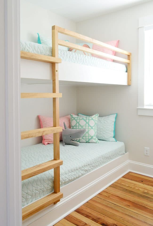 Advantages Of Utilizing Loft Beds For Kids Plans diy built in wall to wall bunk beds after shot