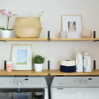 Disguising Ugly Stuff In A Laundry Room