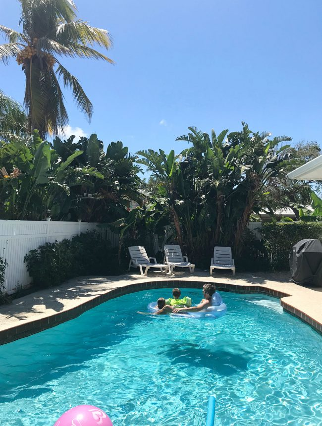 private pool at family spring break rental in pompano beach florida