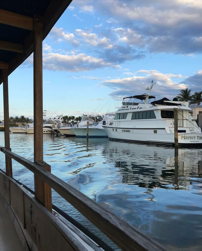 Other boats in marina at Lighthouse Point Florida
