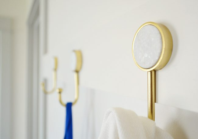 detail photo of marble circle insert on gold hook from target