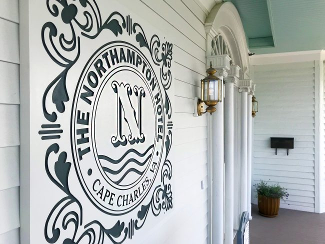 the northampton hotel sign logo in cape charles virginia