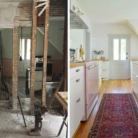 Before & Afters Of Our Beach House: Downstairs