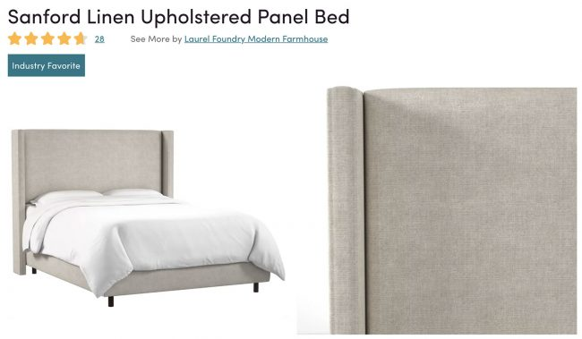 sanford linen upholstered panel bed from wayfair