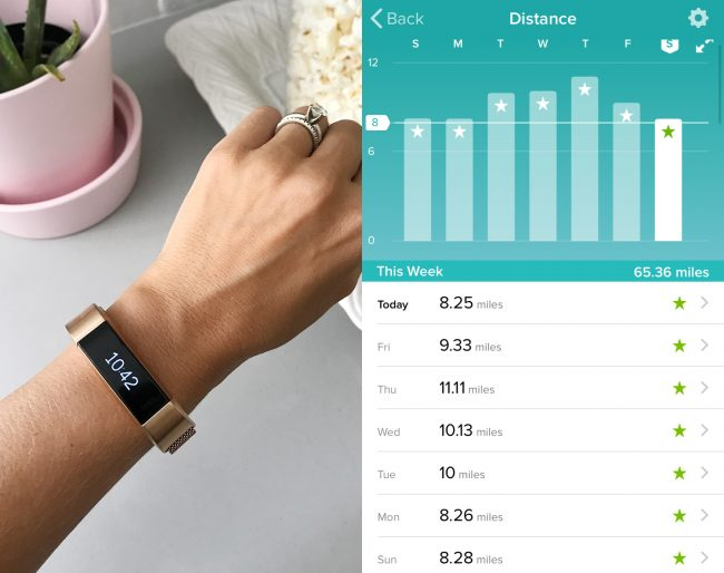 6579a53ba44 Sherry  The Fitbit Alta HR that I surprised Sherry with along with this  12  rose gold band (just make sure to get the rose gold colored Fitbit