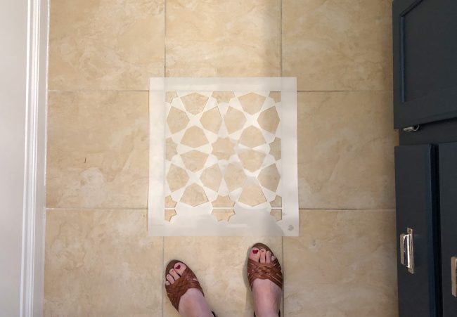 Stupendous How To Paint A Bathroom Floor To Look Like Cement Tile For Home Interior And Landscaping Synyenasavecom