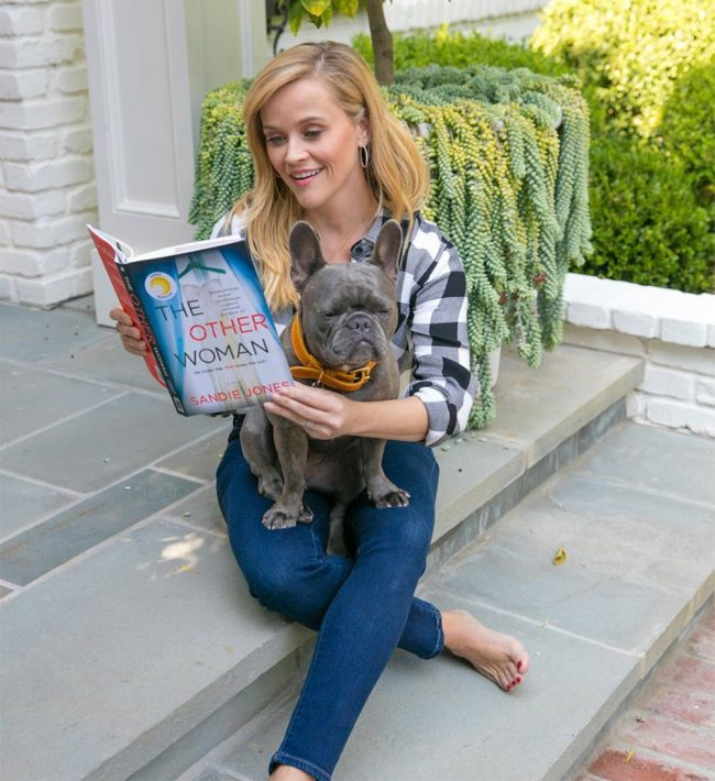 reese witherspoon instagram with slate front steps