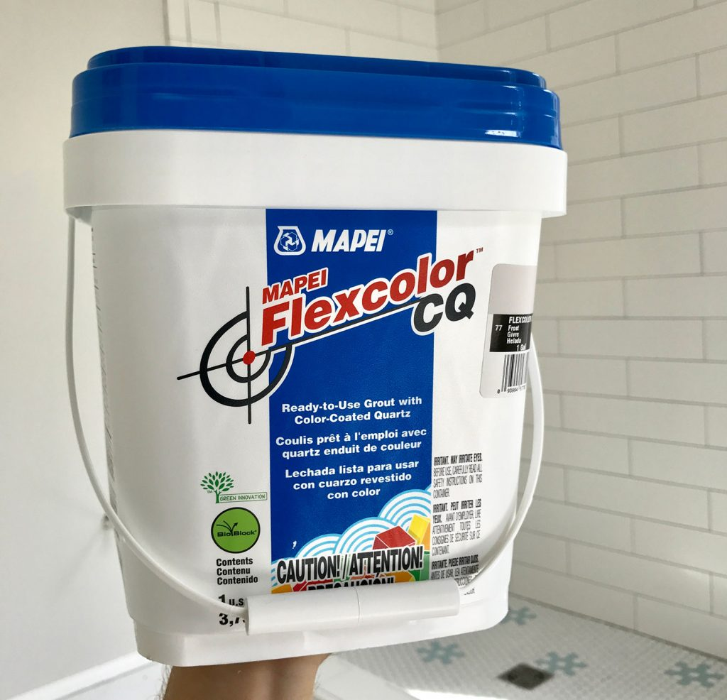 Tub of Mapei Flexcolor Cq Grout