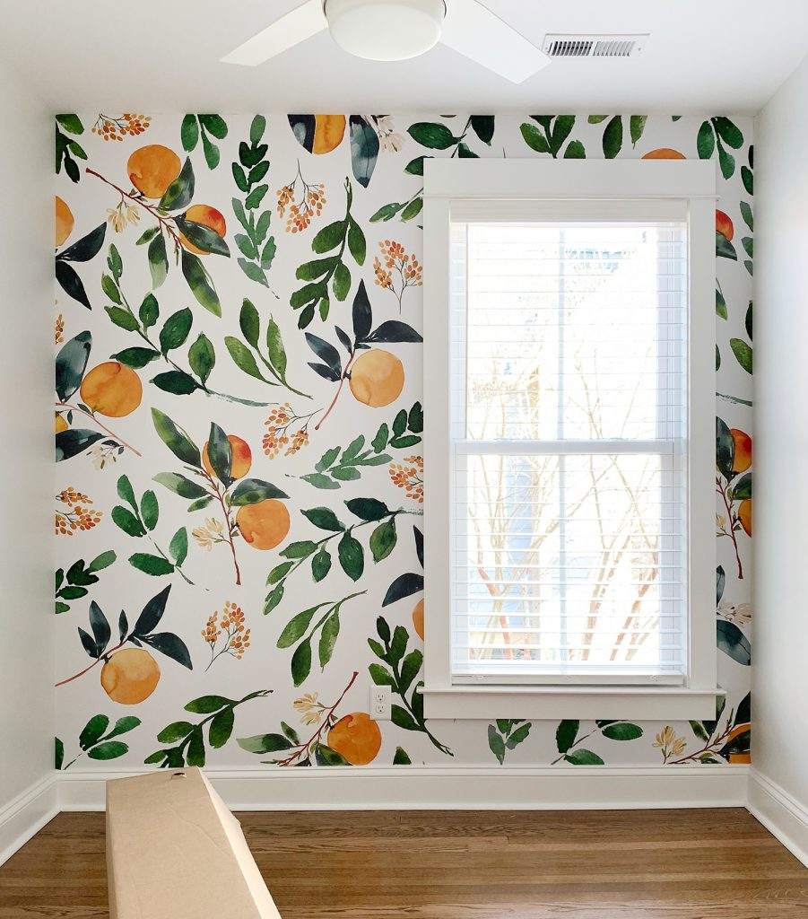 How To Install A Removable Wallpaper Mural Young House Love