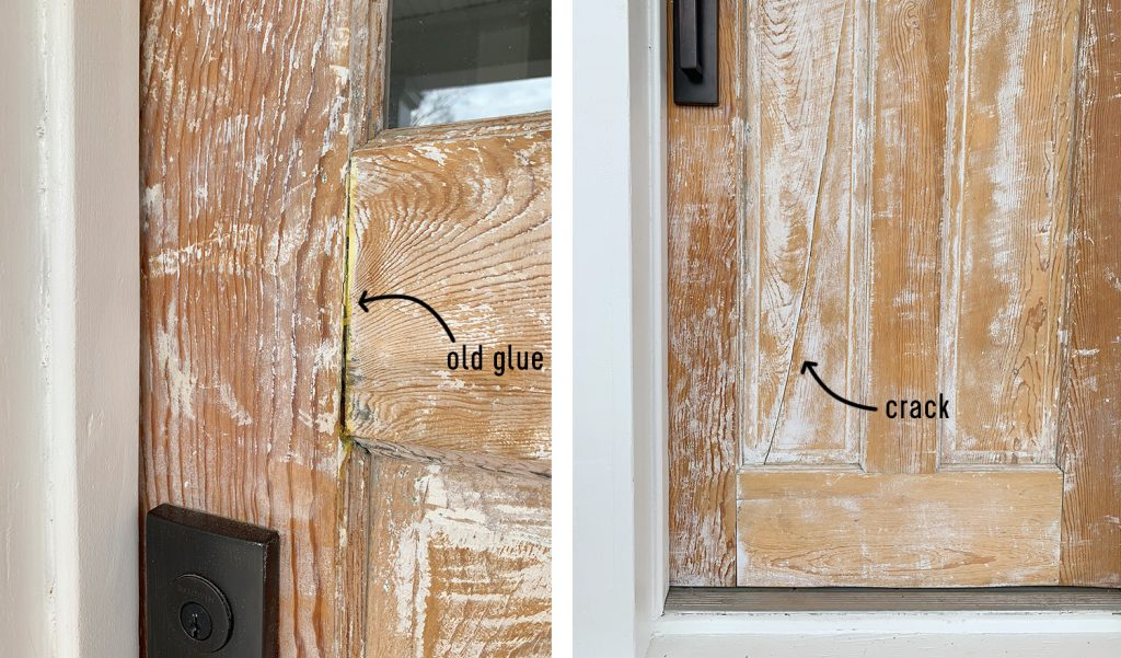 Sanded Down Doors On Duplex With Cracks And Old Glue
