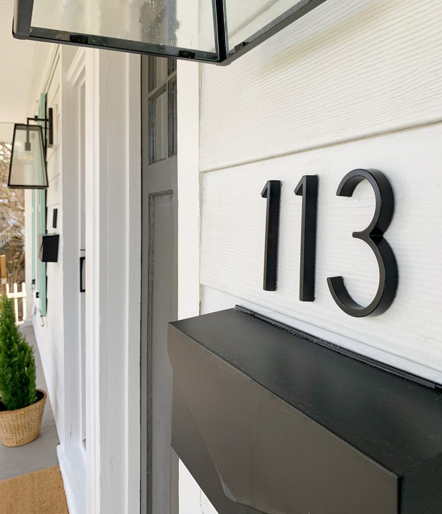 Duplex Front Porch Modern Home Depot House Number