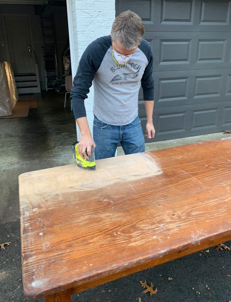 Sanding Refinishing A Table