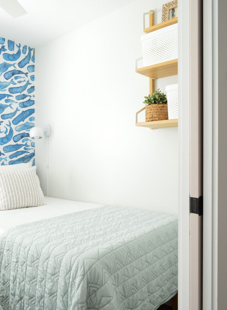 This image has an empty alt attribute; its file name is Duplex-Bedroom-Blue-Whales-Door-Shelf-751x1024.jpg