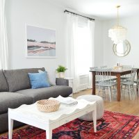 The Finished Living Rooms & Dining Rooms At The Duplex!