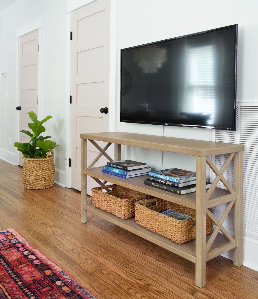 Target X Base Bookcase As Media Cabinet With Floating TV