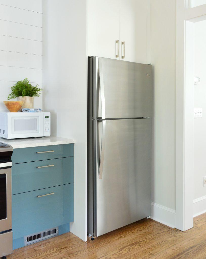 Built-In Fridge Cabinet In Ikea Kitchen