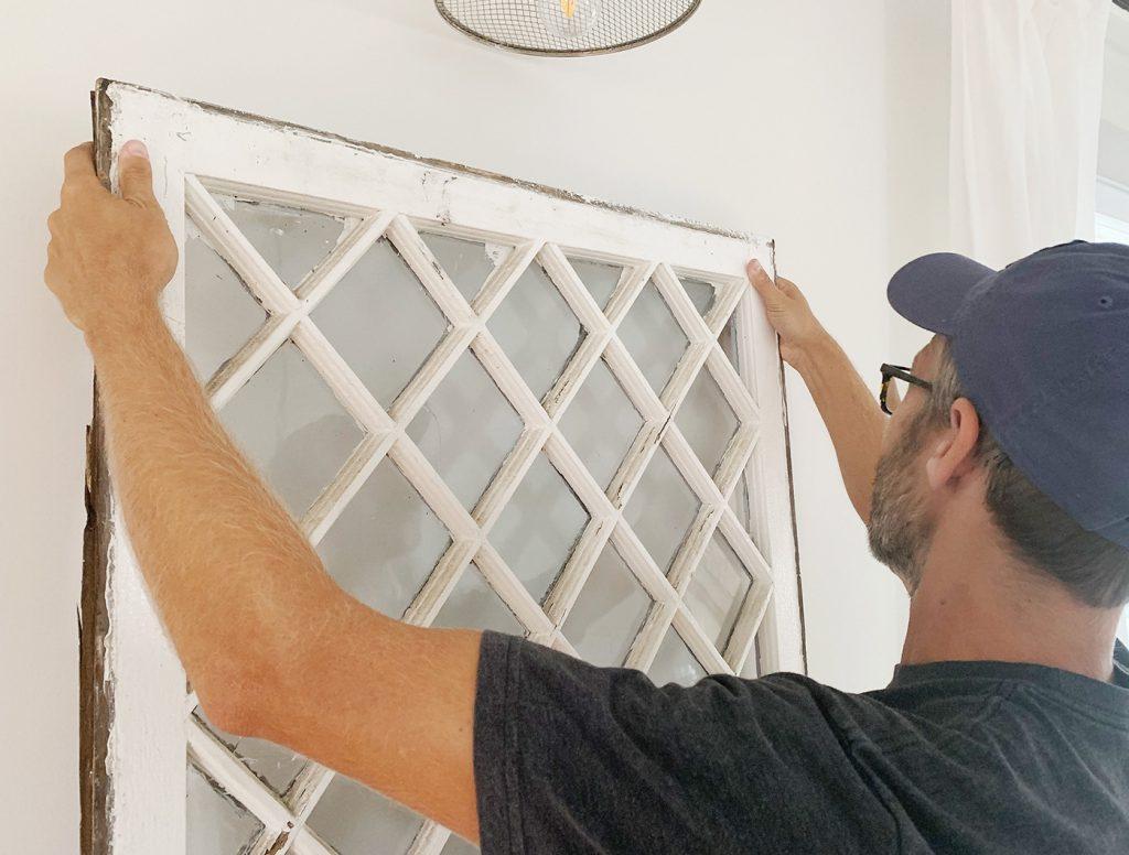 John Hanging Diamond Glass Window On Wall