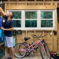 How We Organized Our Beach House Shed (& Two Tips That Helped A Ton)