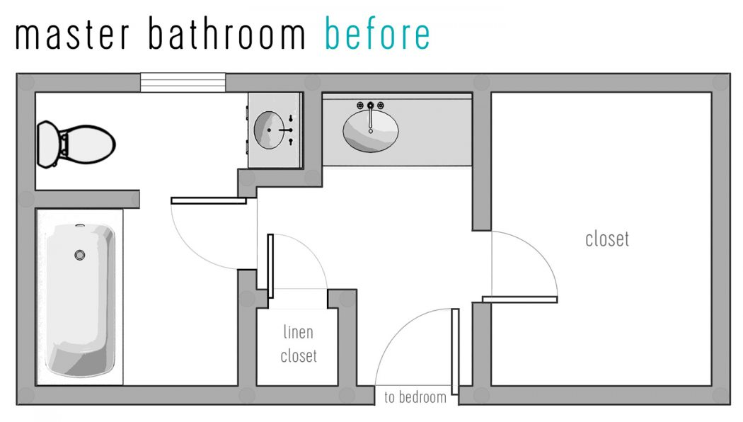 Our Bathroom Reno The Floor Plan Tile Picks Young House Love