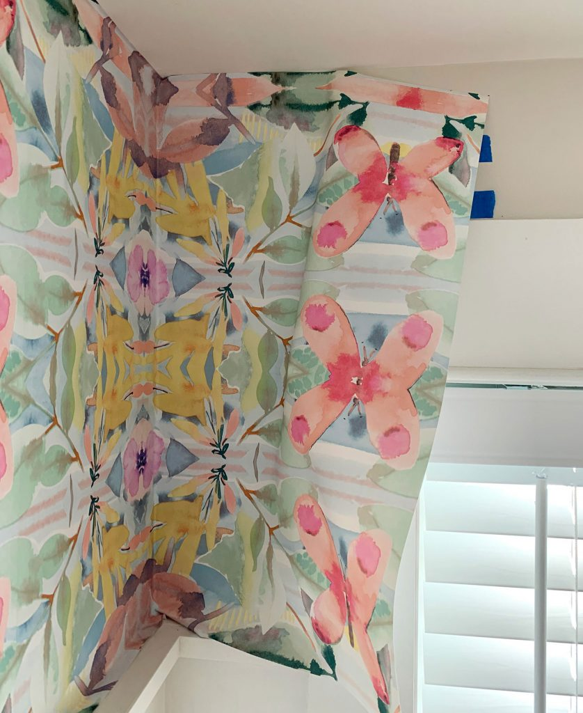 How To Hang Peel Stick Wallpaper On Video Young House Love