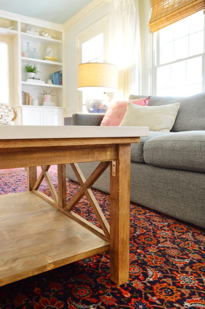 Our Stone Topped Coffee Table Hack Young House Love