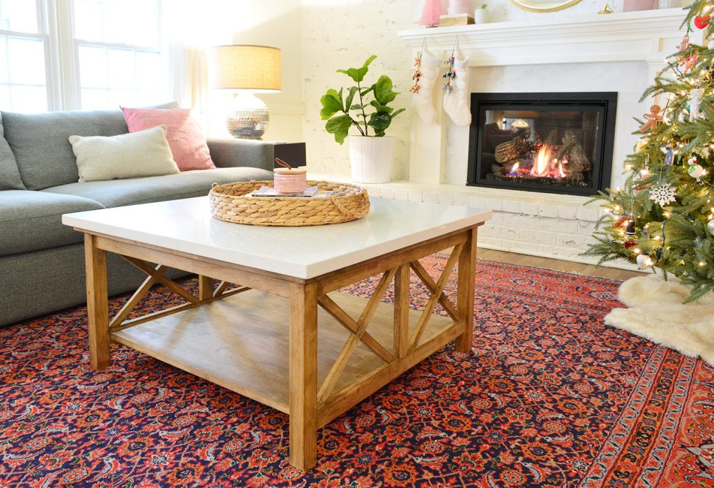 Picture of: Our Stone Topped Coffee Table Hack Young House Love