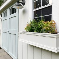 New Paint, Lights, & Window Boxes For Our Backyard Shed (Finally)