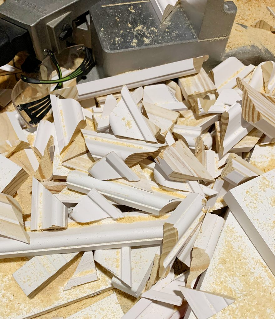 Scrap Pile Of Cut Molding Pieces