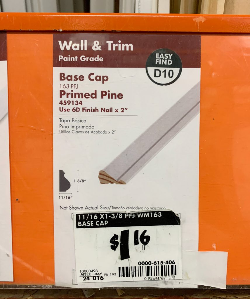 Base Cap Sign At Home Depot