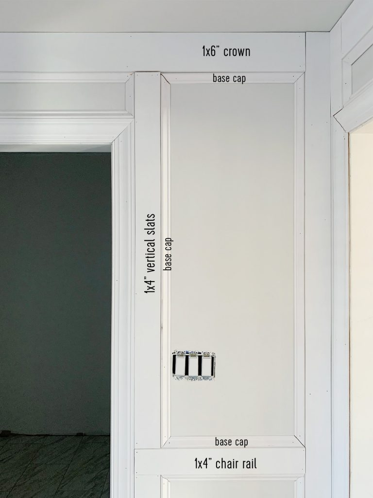 How We Added Decorative Wall Molding To Our Master Bathroom