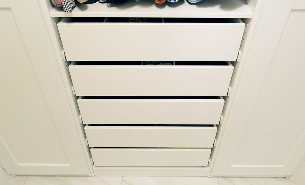 Johns Side Of Ikea Pax System With Closed Doors And Drawers
