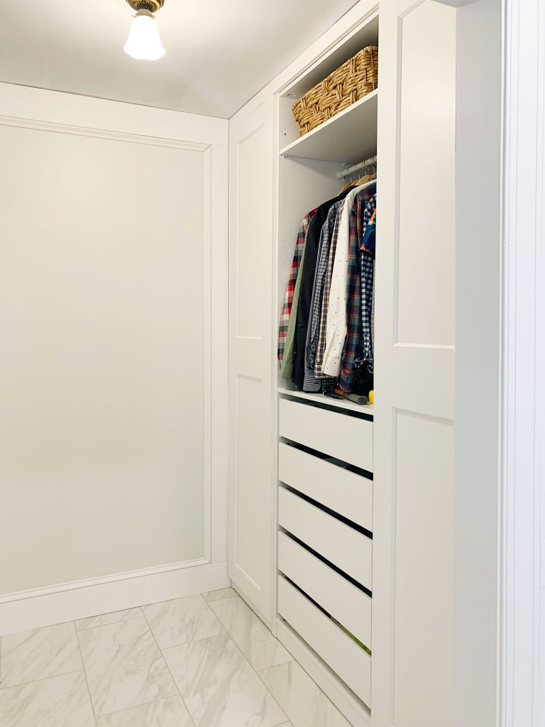 Ikea Pax Closet Built-In Before Caulking And Painting