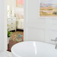 How We Added Decorative Wall Molding To Our Bathroom