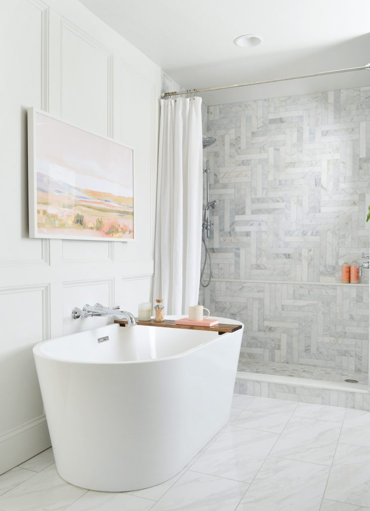 This image has an empty alt attribute; its file name is Marble-Master-Bathroom-Freestanding-Tub-743x1024.jpg