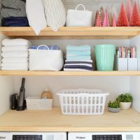 Some Quick & Extremely Functional Laundry Closet Shelves