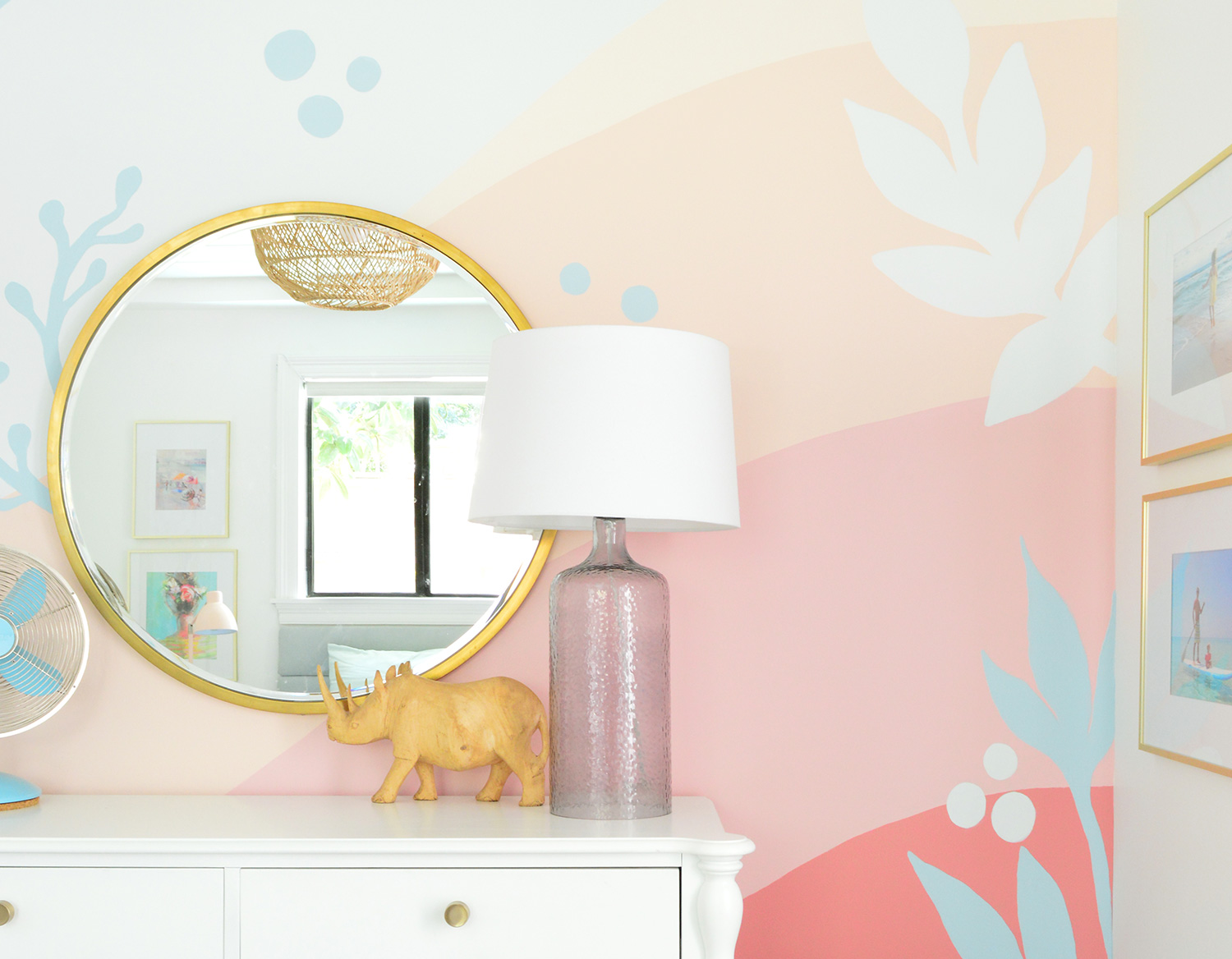 How We Painted A Colorful Abstract Wall Mural Updated Young House Love