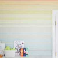 A Colorful Planked Wall Treatment For Our Son's Room