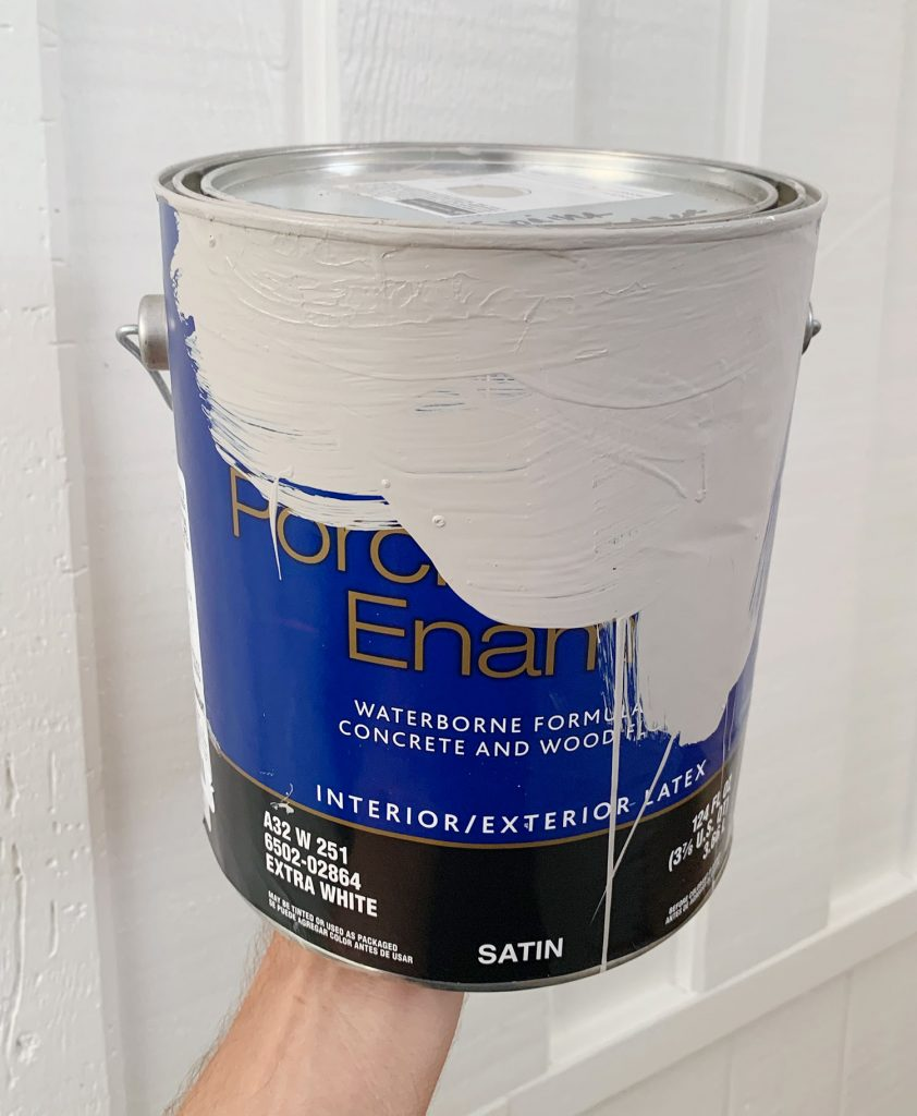 Can of Sherwin-Williams Porch & Floor Enamel Paint