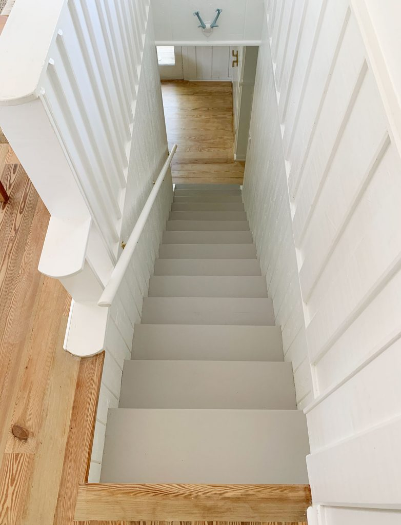 View Of Gray Painted Stair Treads From Above