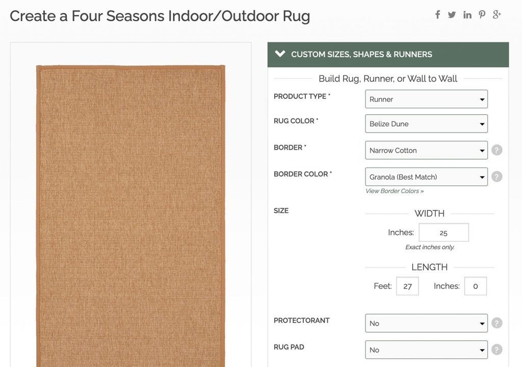 Screenshot of Sisal Rugs Direct Website
