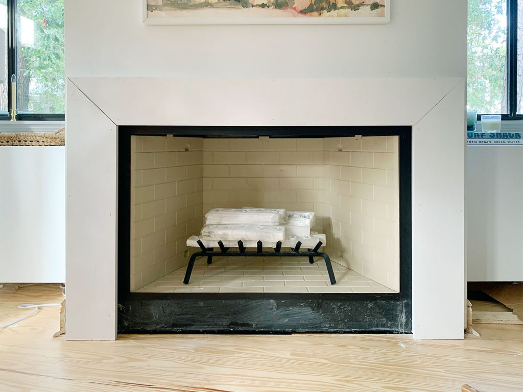 How We Built An Easy Modern Fireplace Mantel Just In Time For Stockings Young House Love