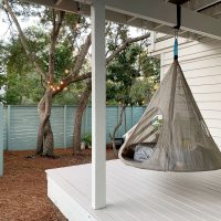 Updating A Covered Porch With Floor Paint & A Hanging Tent
