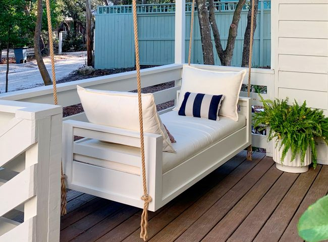 How To Hang An Outdoor Daybed (On Video!)