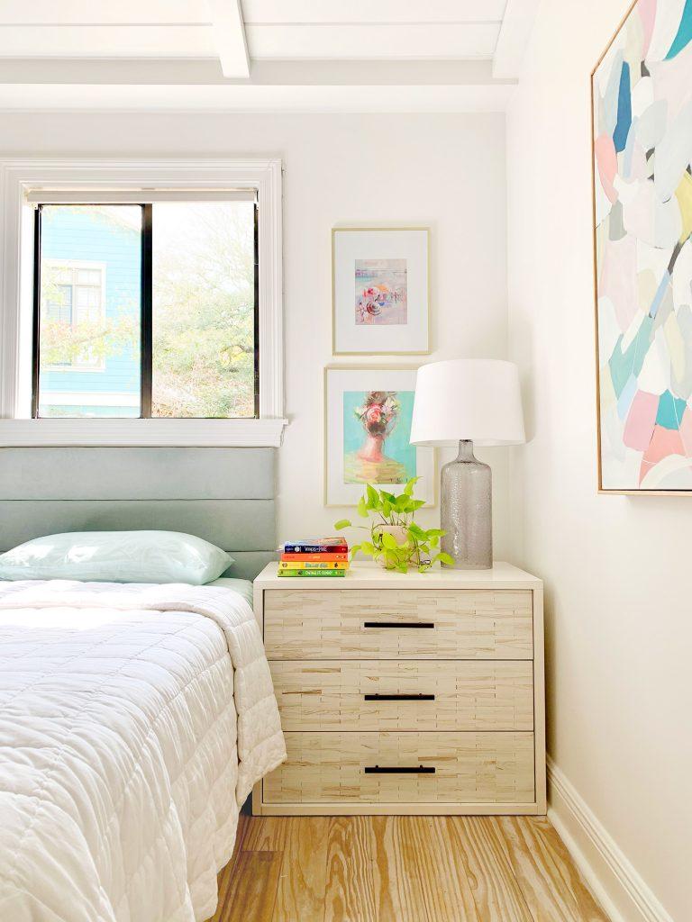 Girls bedroom with inlay dresser nightstand